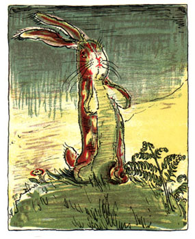 The Rabbit on a hill: Original Illustration of The Velveteen Rabbit bedtime story