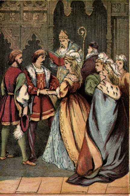Original vintage illustration of Cinderella dancing with the Prince for Cinderella fairy tale