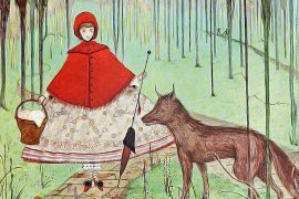 Fairy Tales Little Red Riding Hood and the Wolf illustration