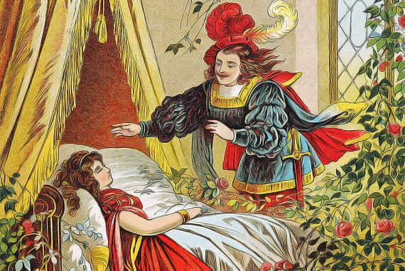 Fairy Tales Sleeping Beauty In The Wood illustration