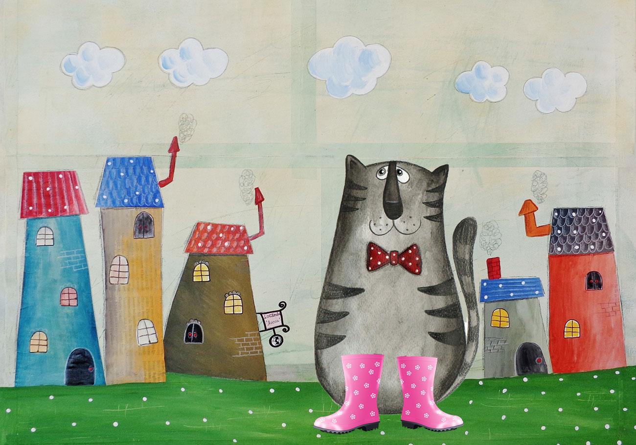 Kids Illustration for Puss in Boots by Charles Perrault