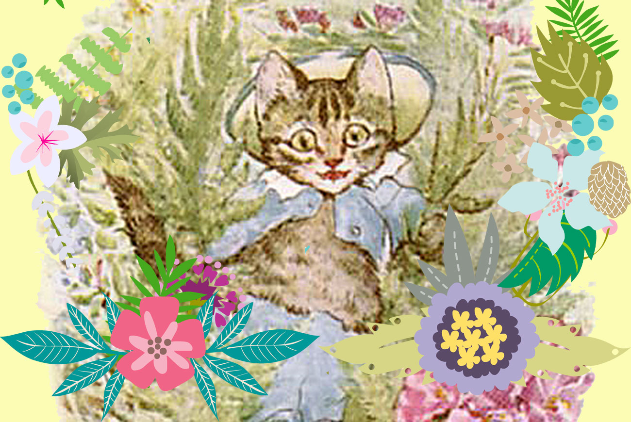 Illustration for Beatrix Potter kids story Tom Kitten
