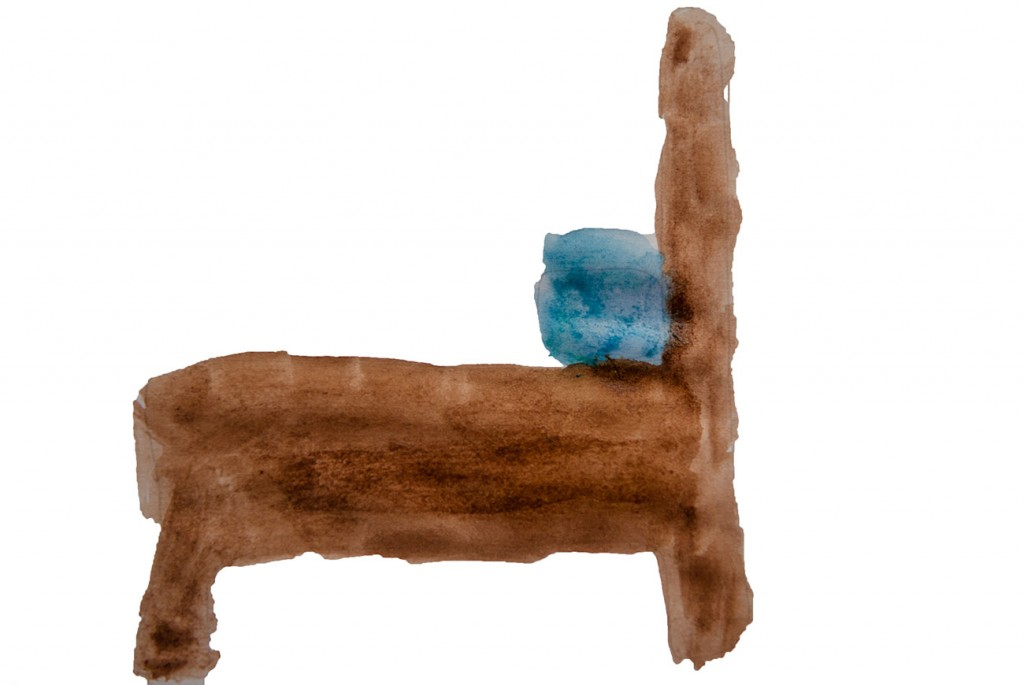 Painting of wooden bed from short stories for kids The Magic Paintbrush