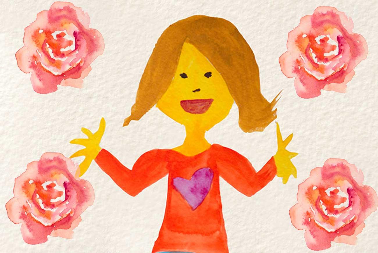Illustration for Nannas Heart bedtime story for children