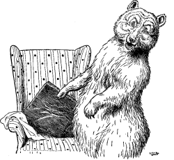 Vintage illustration of 'who's been sitting in my chair!' for Goldilocks and the Three Bears bedtime story