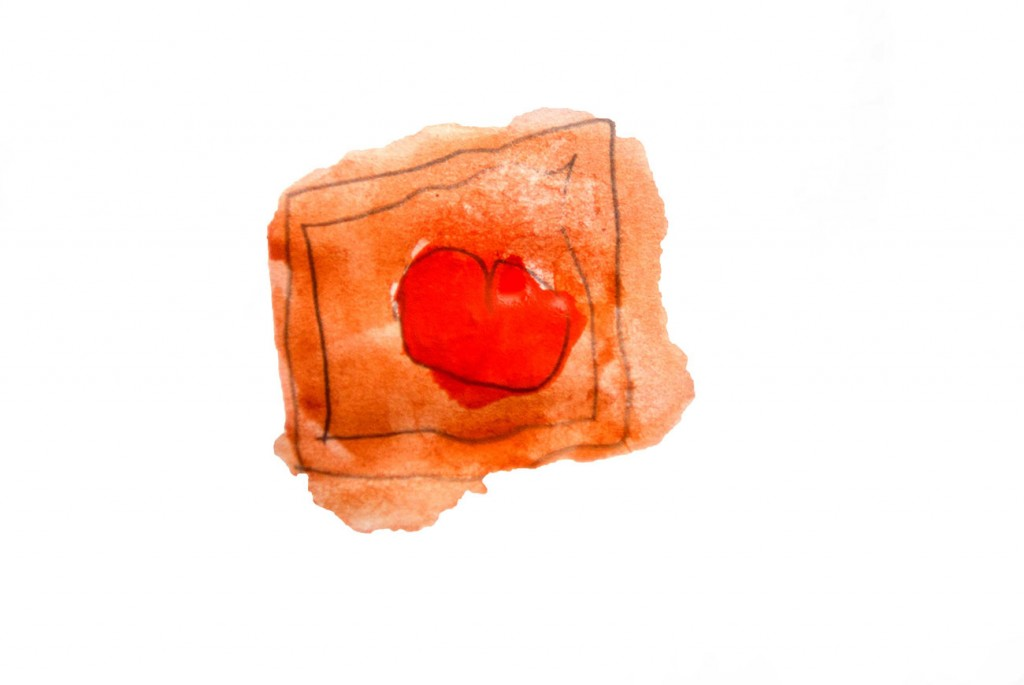 Painting of chocolate with heart from short stories for kids The Magic Paintbrush