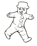 Vintage illustration of the gingerbread man, for The Gingerbread Man bedtime story