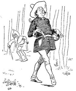 Vintage illustration of rich man, for the Golden Goose bedtime story