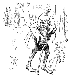 Vintage illustration of old leprechaun, for the Golden Goose bedtime story