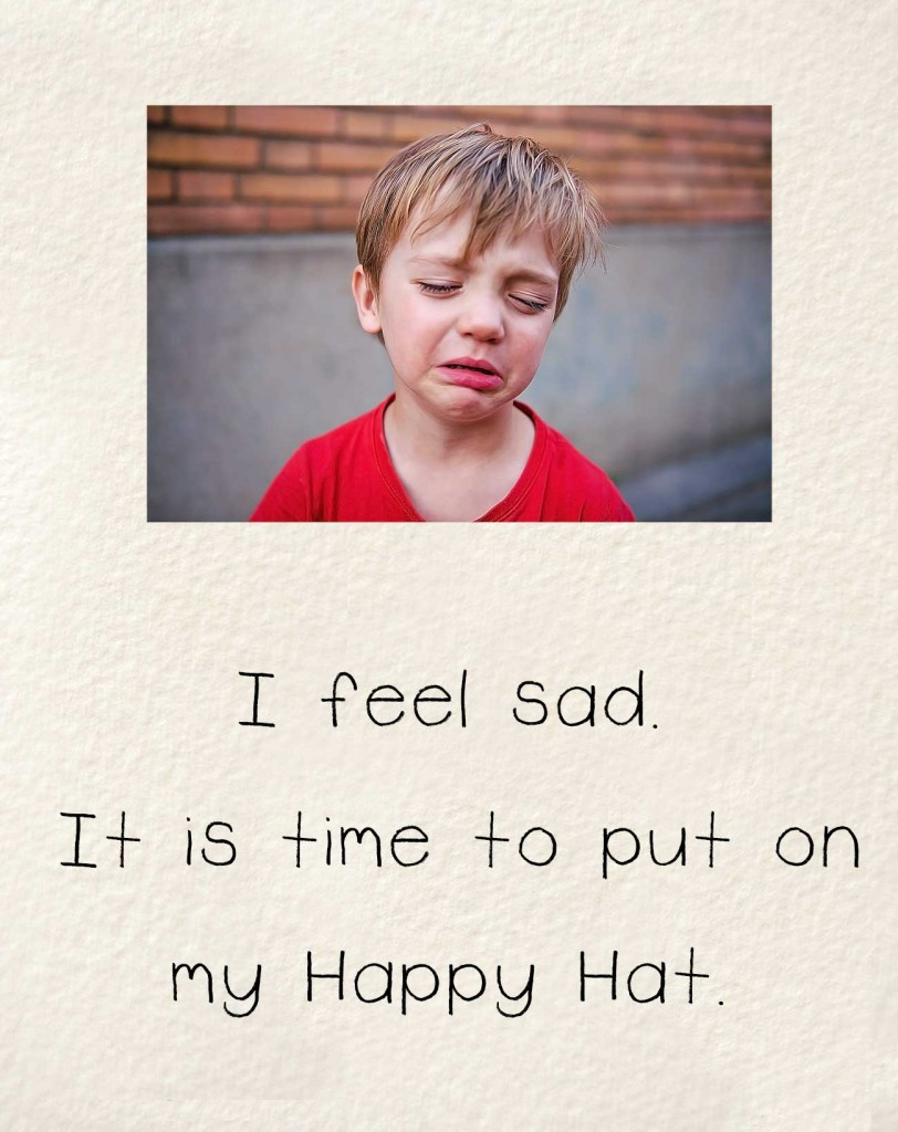 Bedtime stories early readers The Happy Hat - sad face child