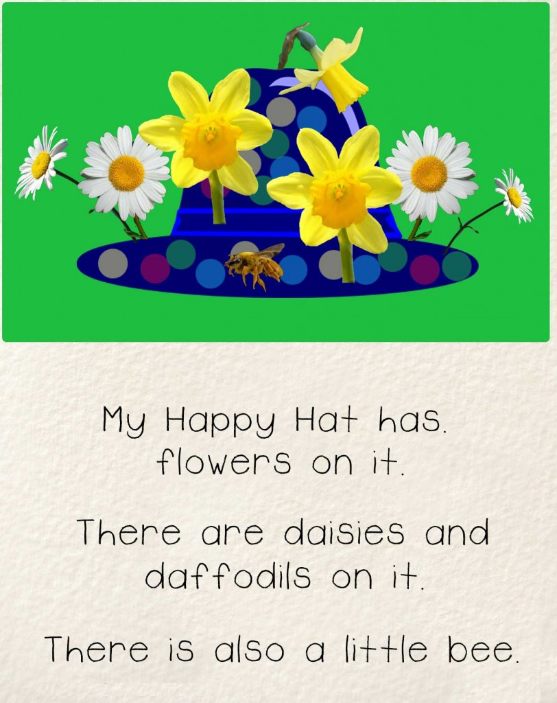 Bedtime stories early readers The Happy Hat - hat with flowers