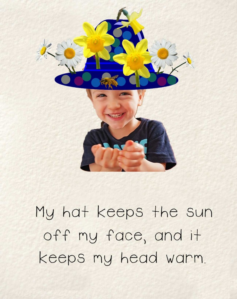 Bedtime stories early readers The Happy Hat - smiling child with bright hat