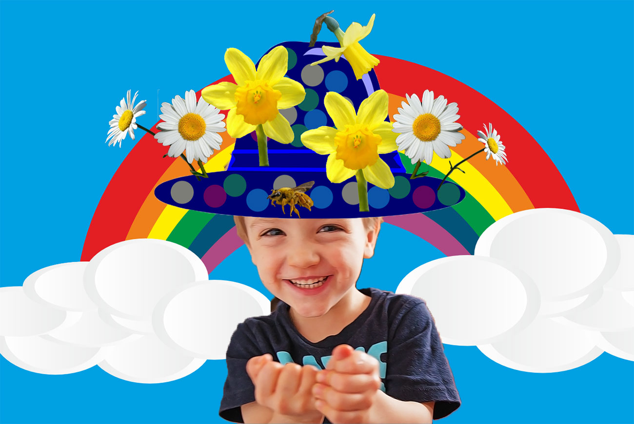 The Happy Hat childrens story illustration