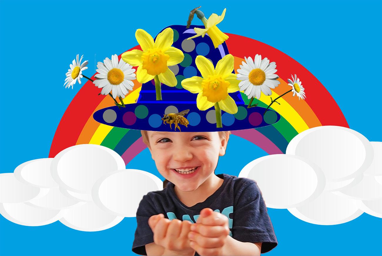The Happy Hat childrens story illustration