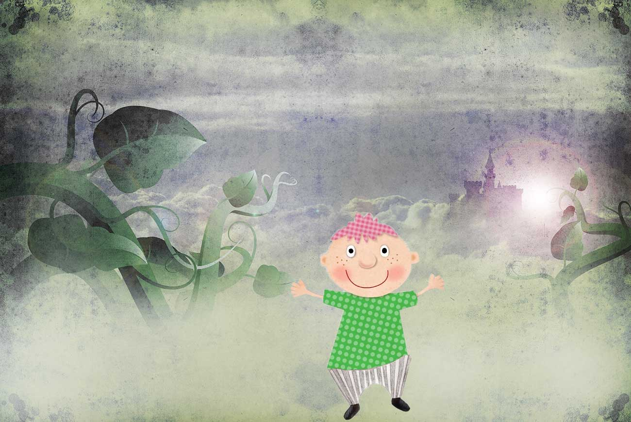 Illustration for Jack and the Beanstalk bedtime story