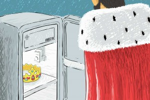 Illustration of king and crown in fridge for short story for kids King Midas Golden Touch