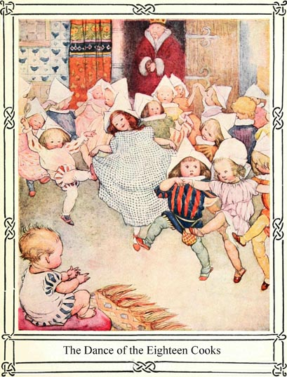 Illustration of children dancing, for Dickens short story The Magic Fishbone by S. Beatrice Pearse