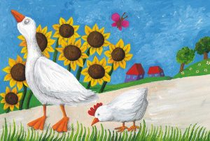 Bedtime stories illustration Wise Mamma Goose
