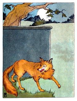 Bedtime stories vintage illustration wicked fox Mamma goose