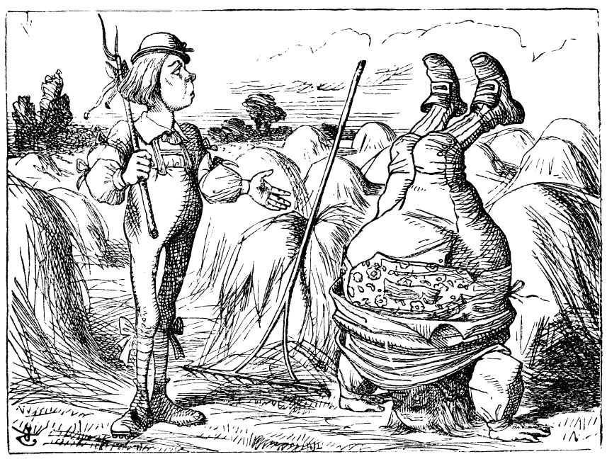 Original children's illustration by John Tenniel of You Are Old Father William fat man headstand from Alice in Wonderland