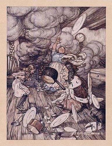 Original children's illustration of Pepper Pig from Alice in Wonderland