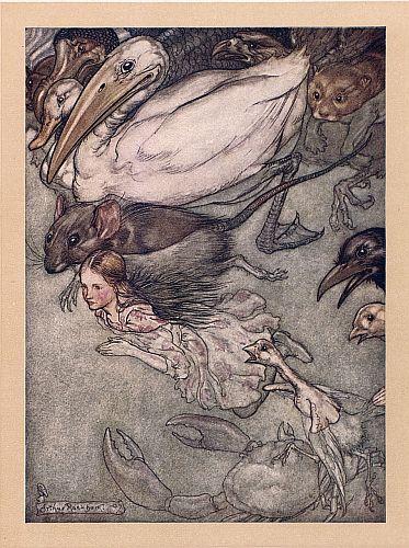 Alice in Wonderland Pool of Tears Illustration