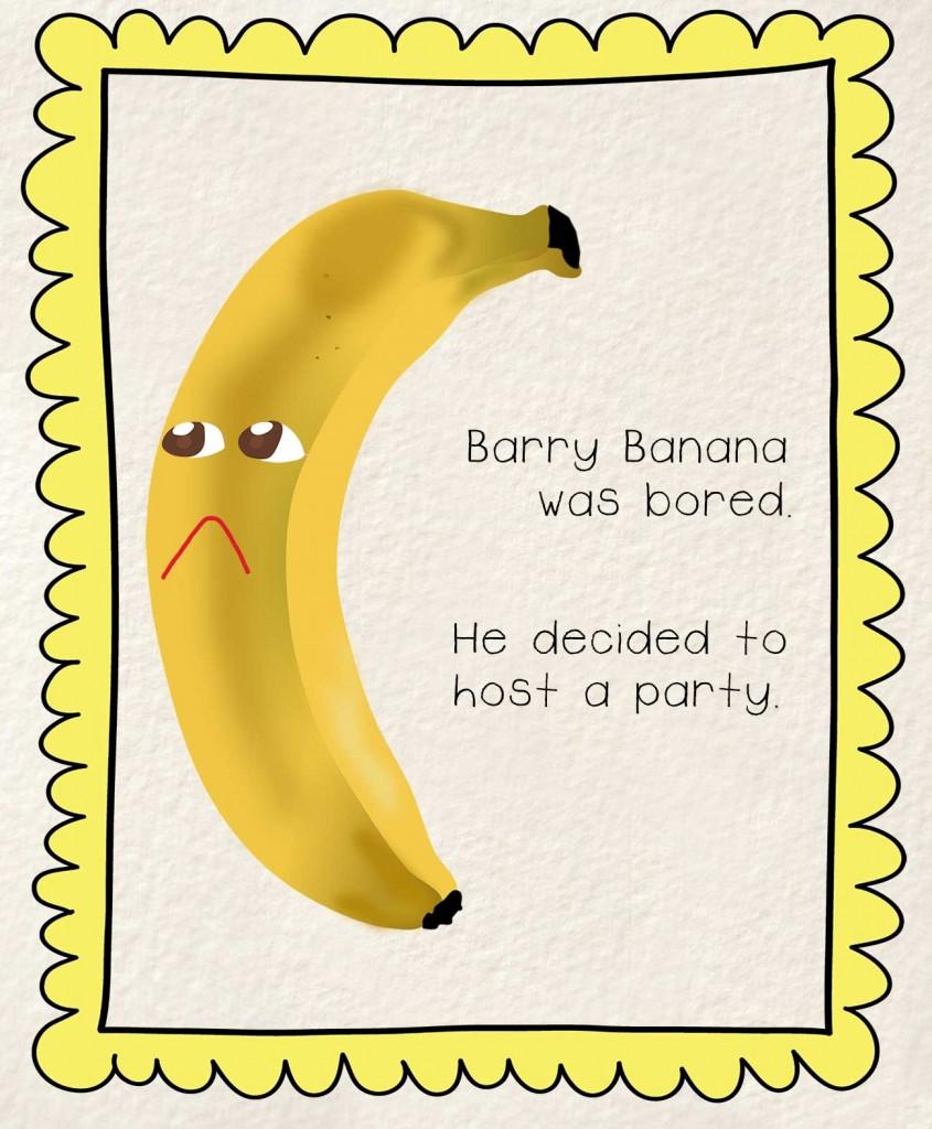 Bedtime stories Barry the Banana illustration - sad banana