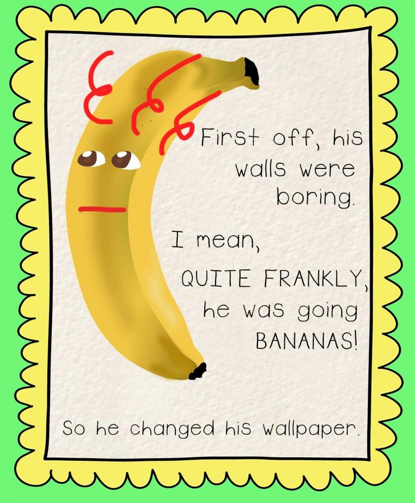 Bedtime stories Barry the Banana illustration - going bananas