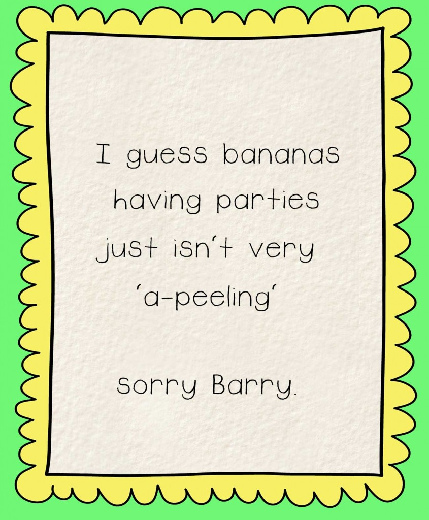 Bedtime stories Barry the Banana - story page