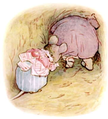 Beatrix Potter bedtime stories Tittlemouse and toad leaving burrow
