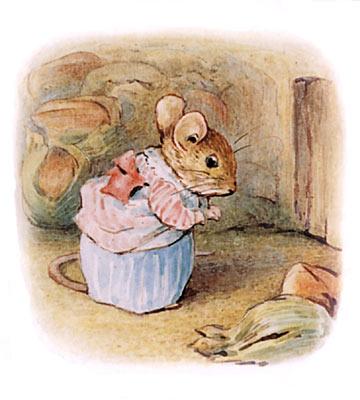 Beatrix Potter bedtime stories Tittlemouse mouse in nut cellar
