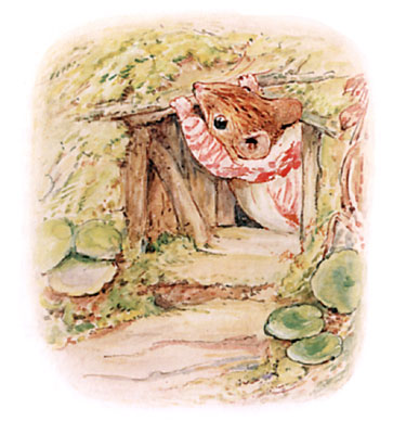 Beatrix Potter bedtime stories Tittlemouse closing front door