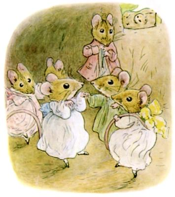 Beatrix Potter bedtime stories Tittlemouse mouse party