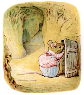 Beatrix Potter bedtime stories Tittlemouse looking in larder