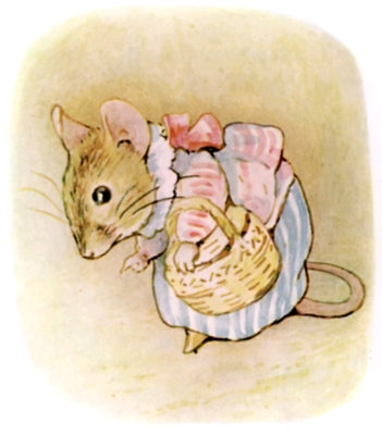 Beatrix Potter bedtime stories Tittlemouse with hand basket