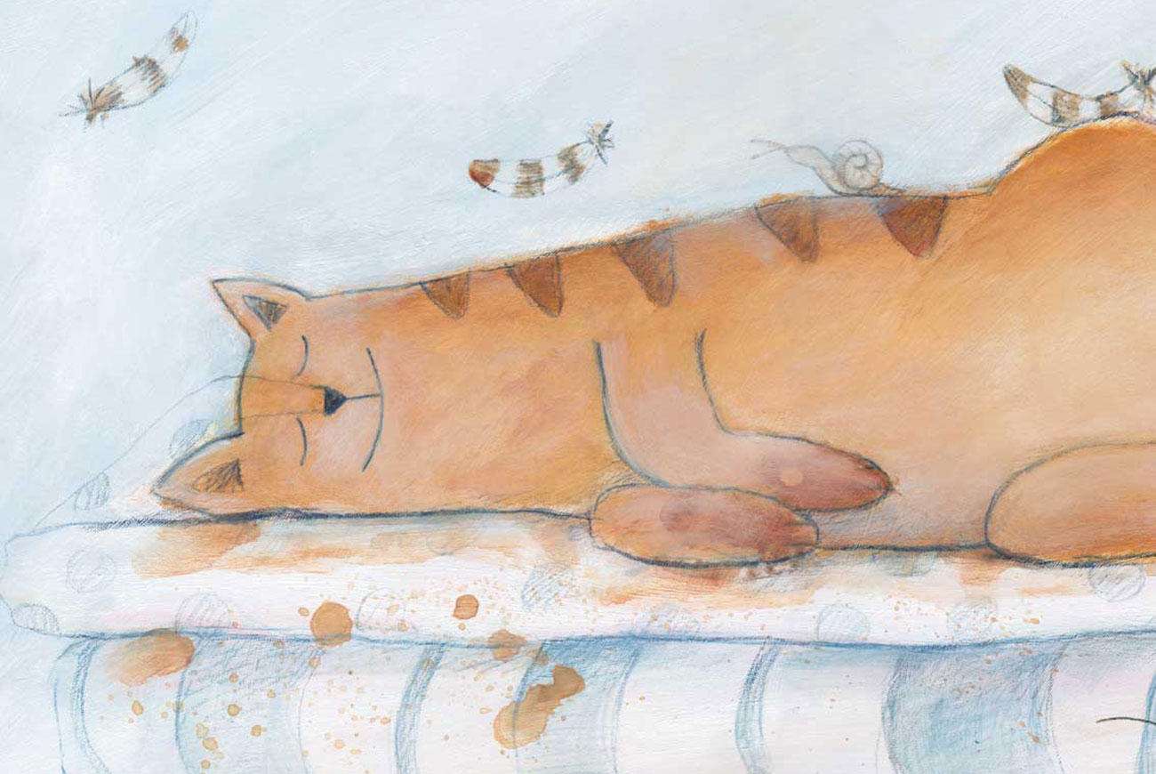 Header illustration from short story for kids Come Back Cat by Book Dash