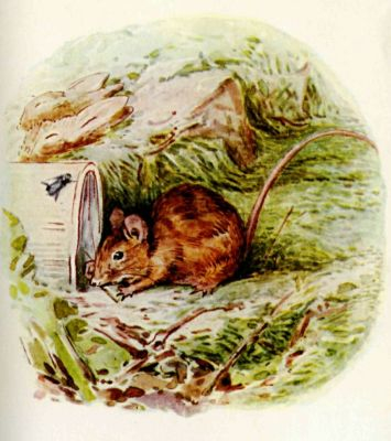 Beatrix Potter illustration Flopsy Bunnies - mouse sniffing
