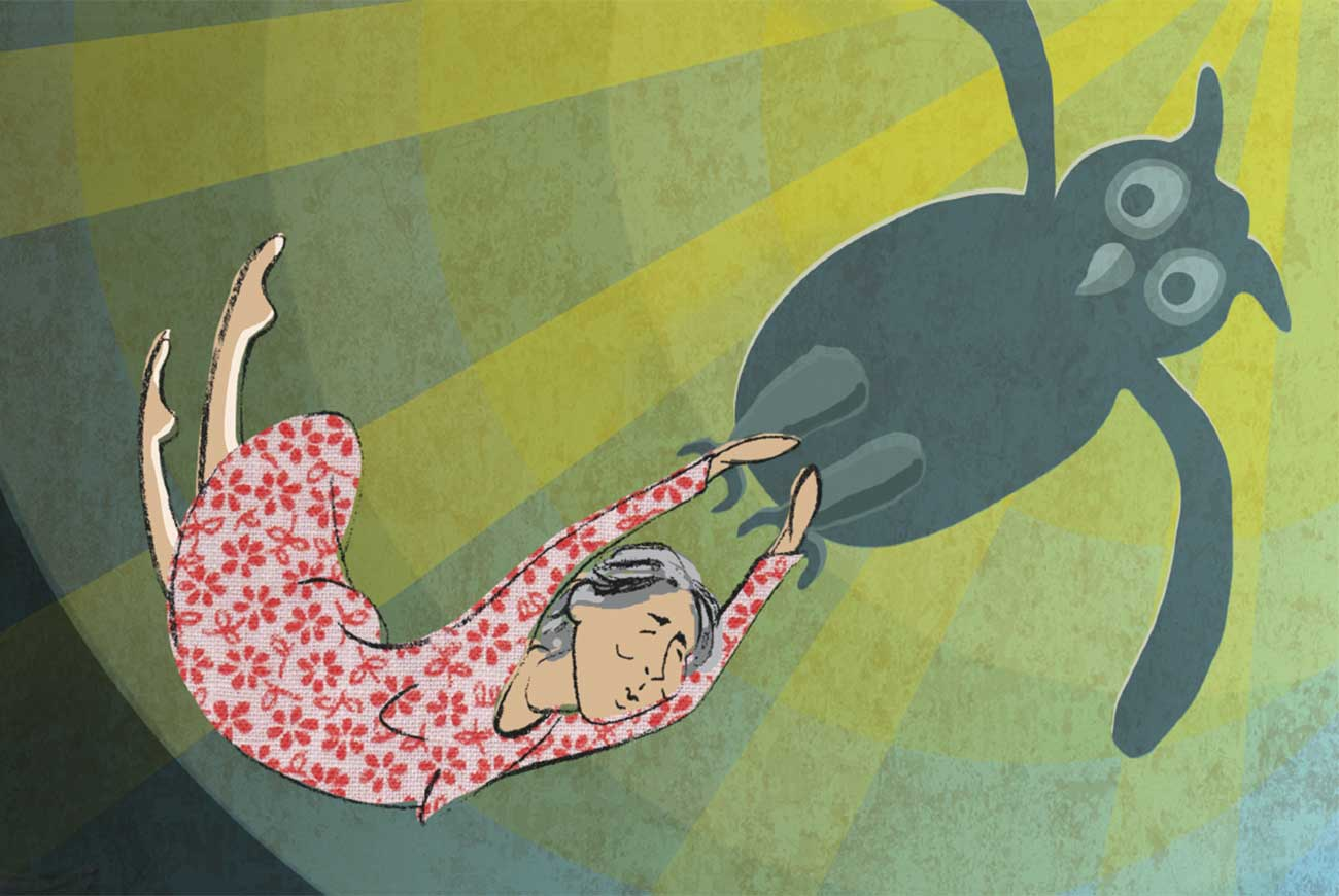 Header illustration from short story for kids Miss Helen's Magical World by Book Dash
