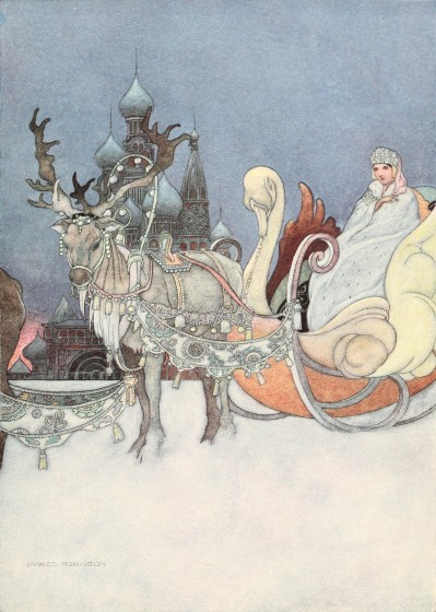 Bedtime stories - Remarkable Rocket by Oscar Wilde - Russian princess in sleigh