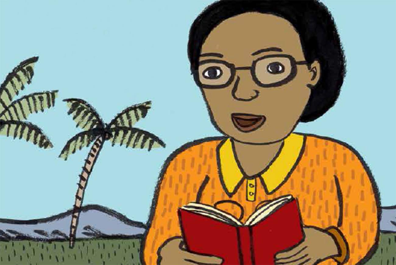 Header illustration for short story for kids Gracas Dream by Book Dash