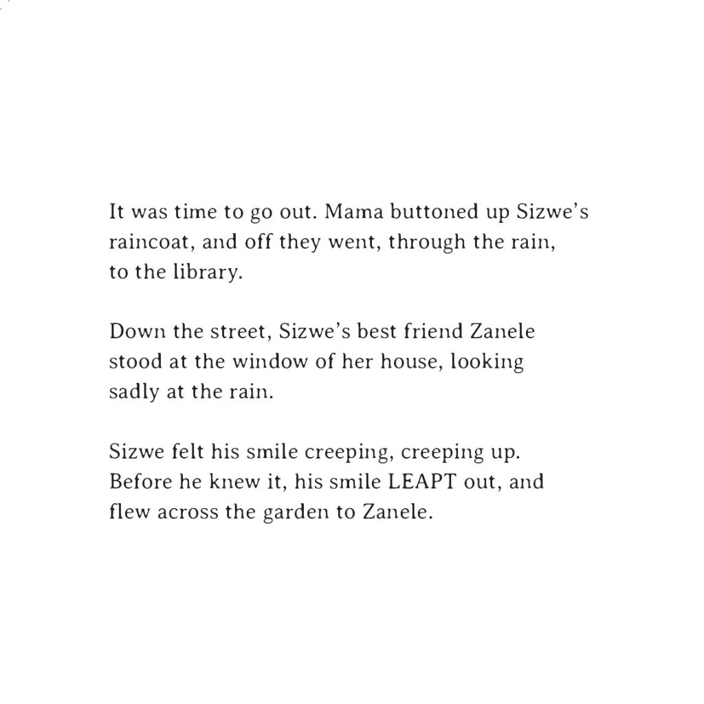 Book page 5 from short story for kids Sizwe's Smile by Book Dash