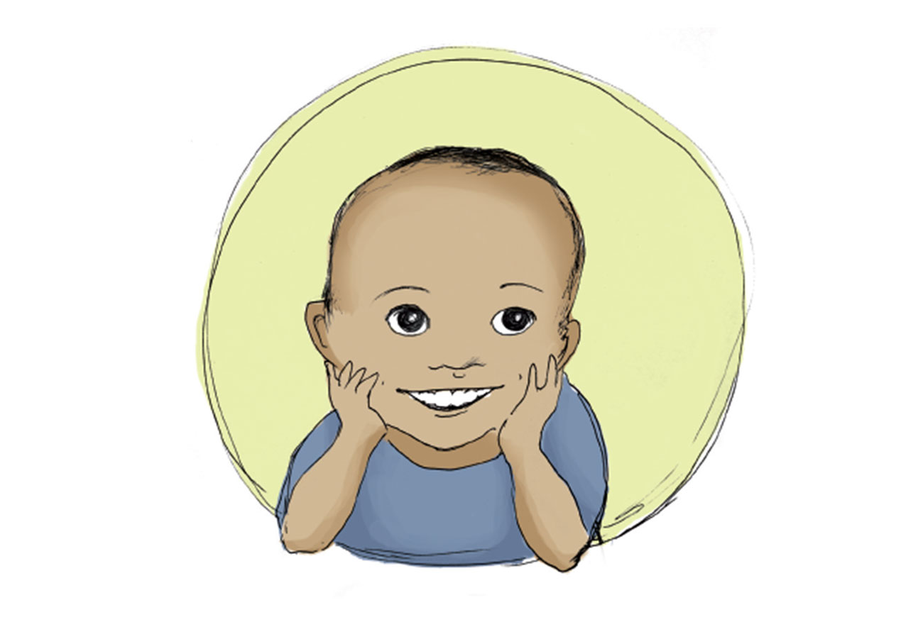 Header illustration for short story for kids Sizwe's Smile by Book Dash