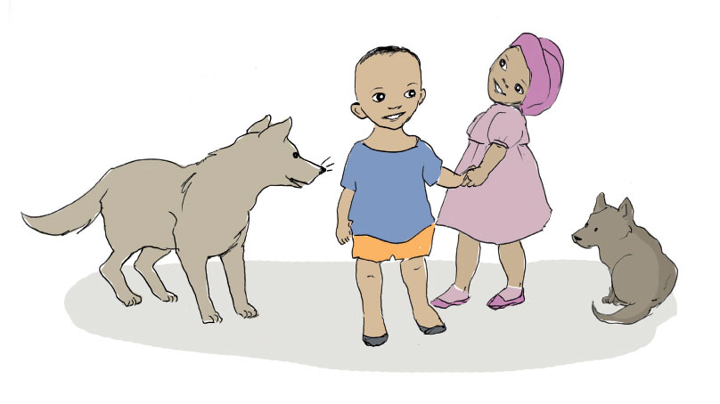Intro page illustration from short story for kids Sizwe's Smile by Book Dash