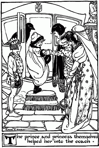 Bedtime stories by Hans Christian Andersen - Snow Queen illustration of little girl and prince and princess