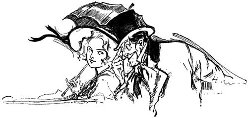 Vintage illustration of Dorothy and the Wizard for childrens story Wizard of Oz