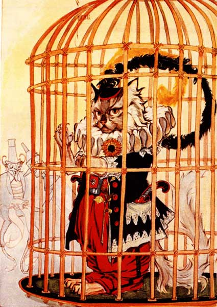 Vintage illustration of Eureka in court for childrens story Wizard of Oz