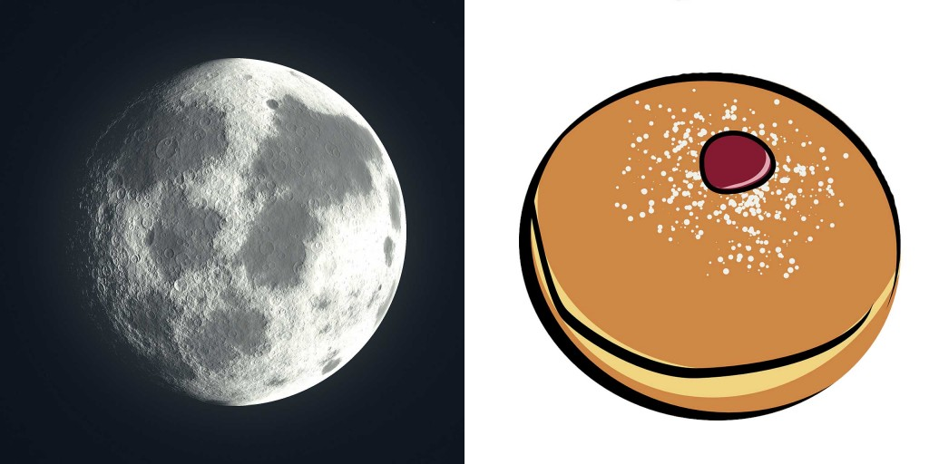 Full moon and cake, from Chinese short story for kids The Moon Cake