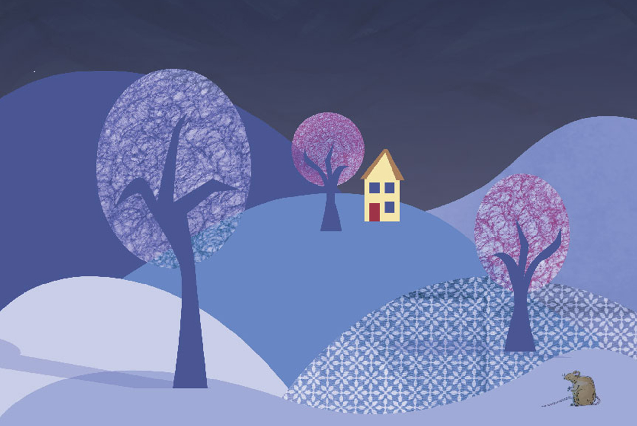 A House for Mouse by Bookdash header illustration of house in night time