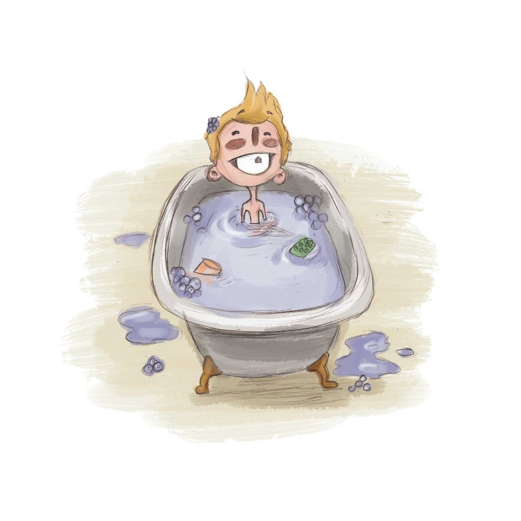 Book page 22 from short story for kids Bathtub Safari by Book Dash