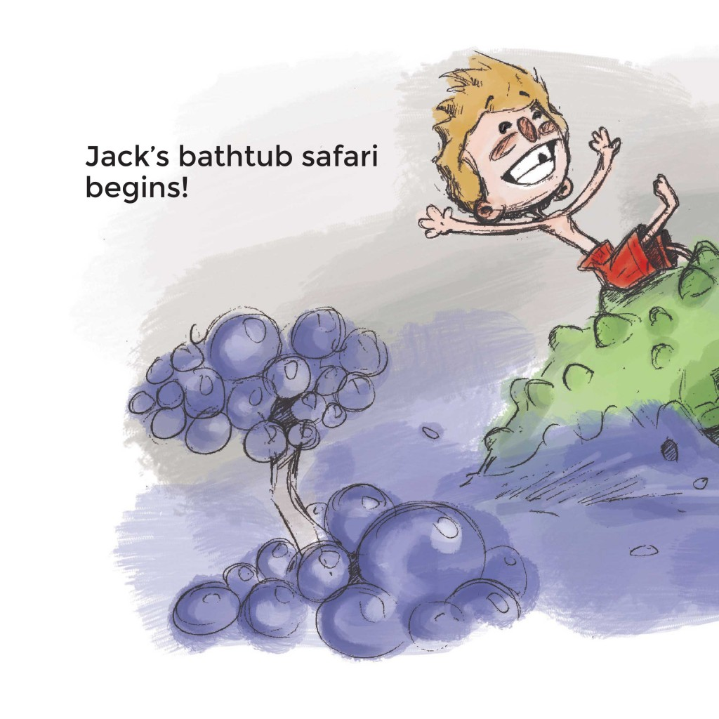 Book page 5 from short story for kids Bathtub Safari by Book Dash